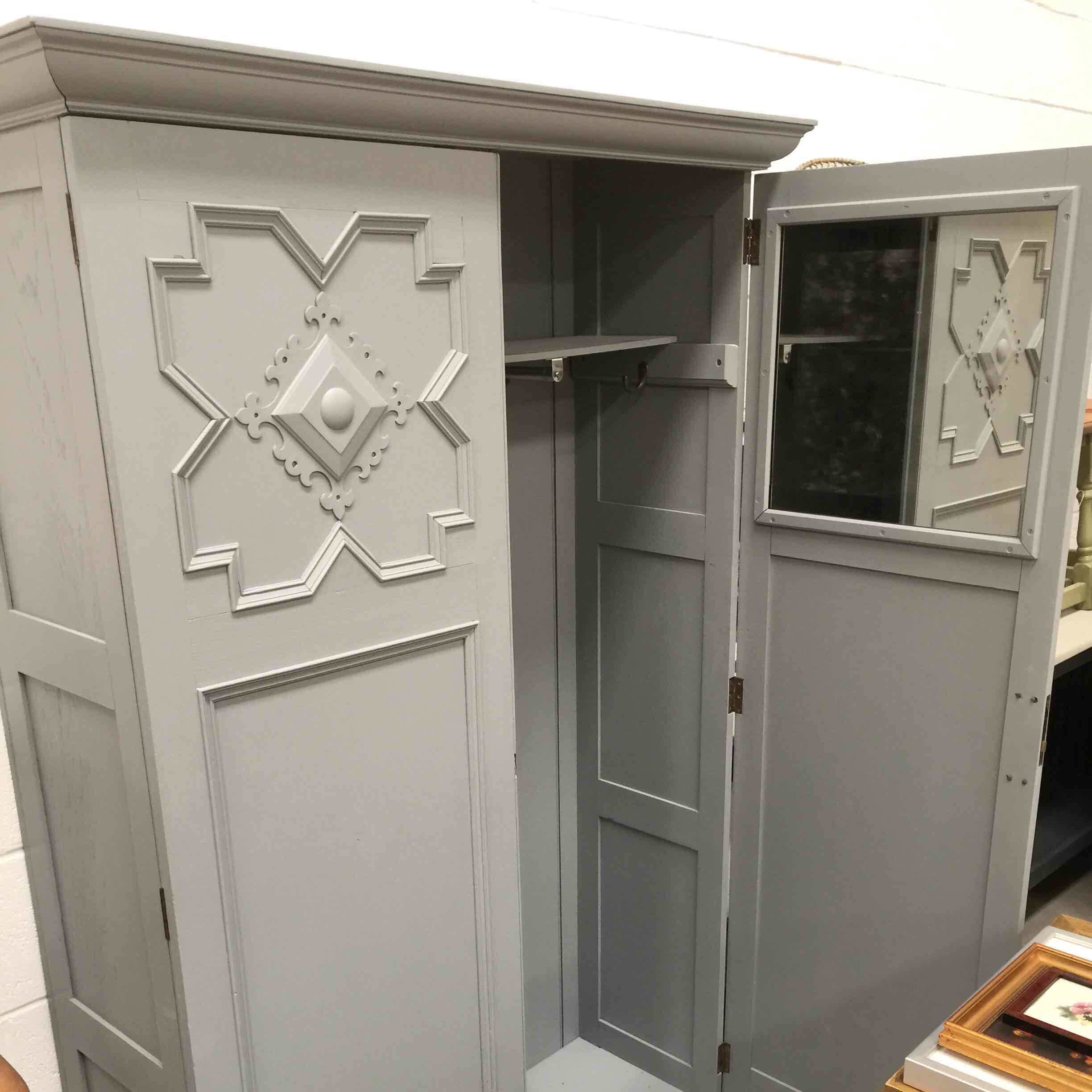 armoire wardrobe shipping overstock garden free burnt gracewood home black today drawer product aristo dark grey hollow